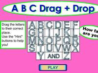 ABC 26个字母拖放游戏