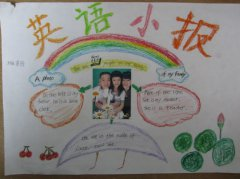 二年级小朋友的my family 英语手抄报图片