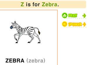 26个字母学习_Z字母书写/发音/涂色及单词