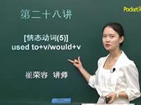 英语语法入门 第28讲 情态动词(5) used to+v/would+v