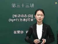 英语语法入门 第33讲 被动语态(3) (by+行为者)可省略